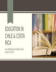 Education in Chile & Costa Rica