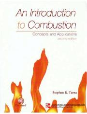 Stephen R. Turns, An Introduction to Combustion- Concepts and Applications, McGraw-Hill