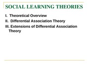Social Learning Theories11(1)