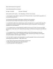 BIO HARDY WEINBERG HW ASSIGNMENT .docx - BIOL 1260 04 ...