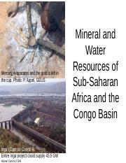 27 Africa Mineral Water Resources