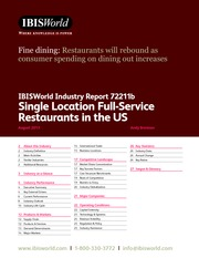 72211B Single Location Full-Service Restaurants in the US industry report