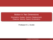 Lecture03. Motion in Two Dimensions Student Version