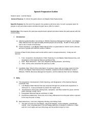 SpeechPreparationOutline-JenniferManis.rtf