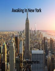 Awaking In New York