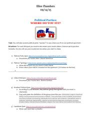 POLITICAL PARTIES QUIZZES