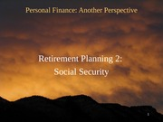 22 Retirement 2 - Social Security 2012-03-19