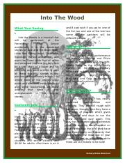 Into The Woods Newsletter ZB