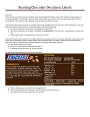 Reading Chocolate Nutrition Labels.docx