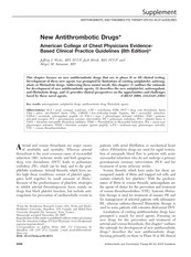 New Antithrombotic Drugs