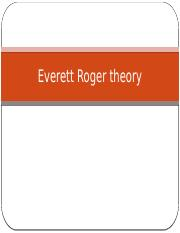 Everett Roger theory