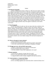 oil spill research paper outline