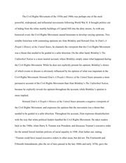 Civil rights movement essays