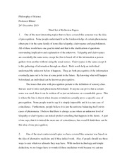 Philosophy of Science Third Set Reflection Papers