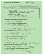 Calculating Energy Change Answers