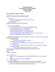 Soc 300 Exam 1 Study Guide Call Winter 2014