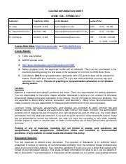 CHEMISTRY 1128 SPRING 2017 course information sheet_FS