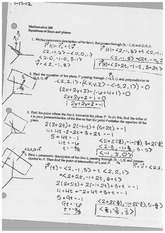 Equations of lines and planes