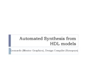 VHDL 7 Synthesis with Leonardo