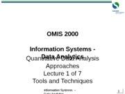 OMIS 2000  Data Analytics 1of7