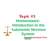 ANP 1105 Homeostasis part 2 Fall 2013 JK