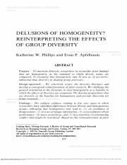 5 Delusions of homogeneity_Reinterpreting the effects of group diversity