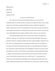 Controversy  Online Essay 2