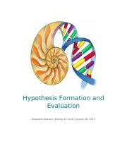 Hypothesis Formation and Evaluation Student Report.docx