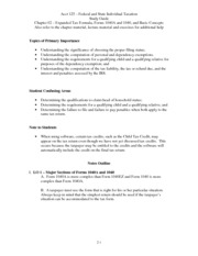 Study Guide - Chapter 02 – Expanded Tax Formula, Forms 1040A and 1040, and Basic Concepts