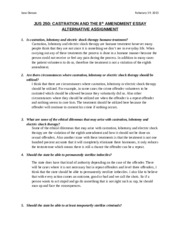 Castration & the 8th Amendment Alternative Assignment