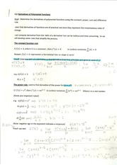 Derivatives of Polynomial functions