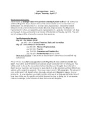 Study Guide, Test 2, Spring 13