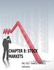 Chapter 8 Stock markets .ppt