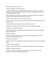 literacy narrative essay learning to drown a little before 1 pages reading assignment summary