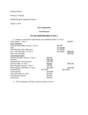 FAX Corporation Financial Statements Analysis