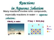 Chapter 3 Reactions in Solutions