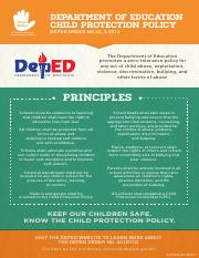 Child Protection Policy Infographics