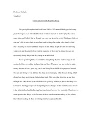 fourth response essay
