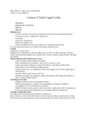 Lecture 3 - Early Legal Codes