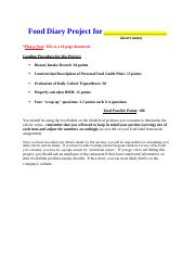 FoodDiaryProject