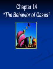 Chapter 14 The Behavior of Gases.ppt