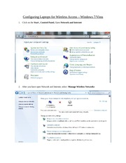 Configuring Windows7 & Vista