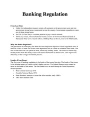 Banking Regulation