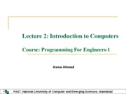 Lecture2-Introduction to Computers