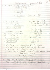Polynomial Equation Examples