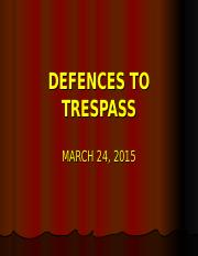 TORTDEFENCES_TO_TRESPASS.ppt