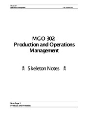 MGO 302 Skeleton Notes 1(1)