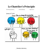 Lab # 47- Le Chatelier's Principle-Partly Revised