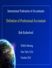 Definition of Professional Accountant Presentation