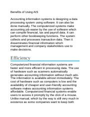 benefits of Accounting information System.docx